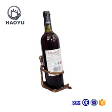 Chinese supplier novelty metal craft decorative animal wine bottle holders