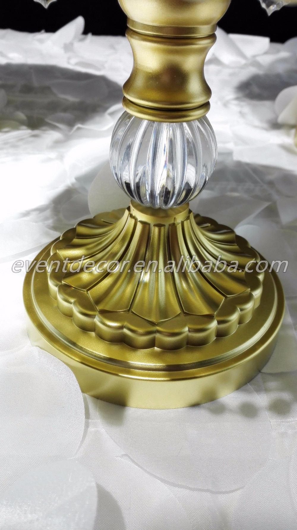 Trade Cake Stands : Metal golden party dessert cupcake display size wedding