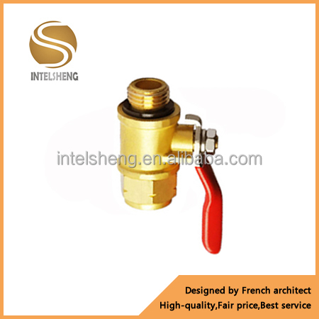 low price hand operated screw thread brass ball valve with nipple