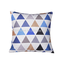 Eco-Friendly multiple geometrical pattern linen cheap outdoor chair patio cushions