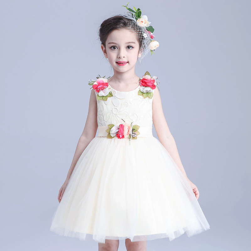 S31471W Fashion customized flower tulle latest design party dress