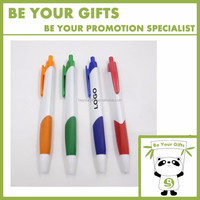 Cheap Promotional Custom Logo printing Advertising Simple model Plastic ball pen