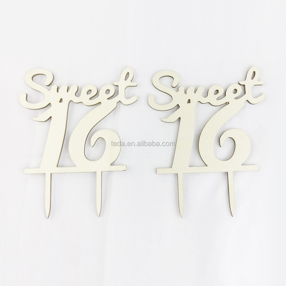 Personalized custom number Wood Cake Topper anniversary cake topper