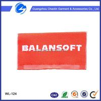 Custom Embroidery Fabric Tags Loop Folded Clothing Woven Label Sport Woven Label For Clothes