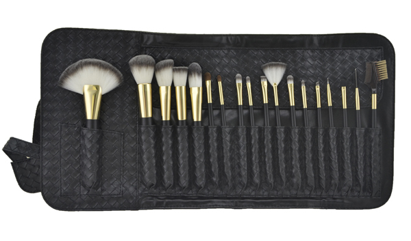 Black Synthetic High End Makeup Brush Sets