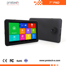 7 inch android PND MTK8163 quad-core DVR GPS Navigator wifi tablet pc for car with GPS FM BT 1080P AV/IN DVB-T portable car pnd
