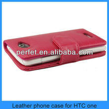 pu leather flip leather case cover pouch for htc one m7