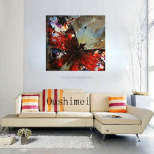 Handmade Modern Knife Animals Butterfly Canvas Pictures Oil Painting