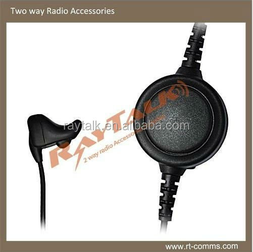 Ear bone mic headset for two way radio communciation /ear bone conduction headset with mic