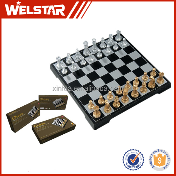 Cheap Plastic Folding Magnetic Chess Boards Chess Set
