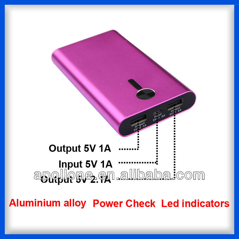 Ture capacity 6000-10000mah for most mobile phones/ipad/ipod/psp 6000mah as christmas presents