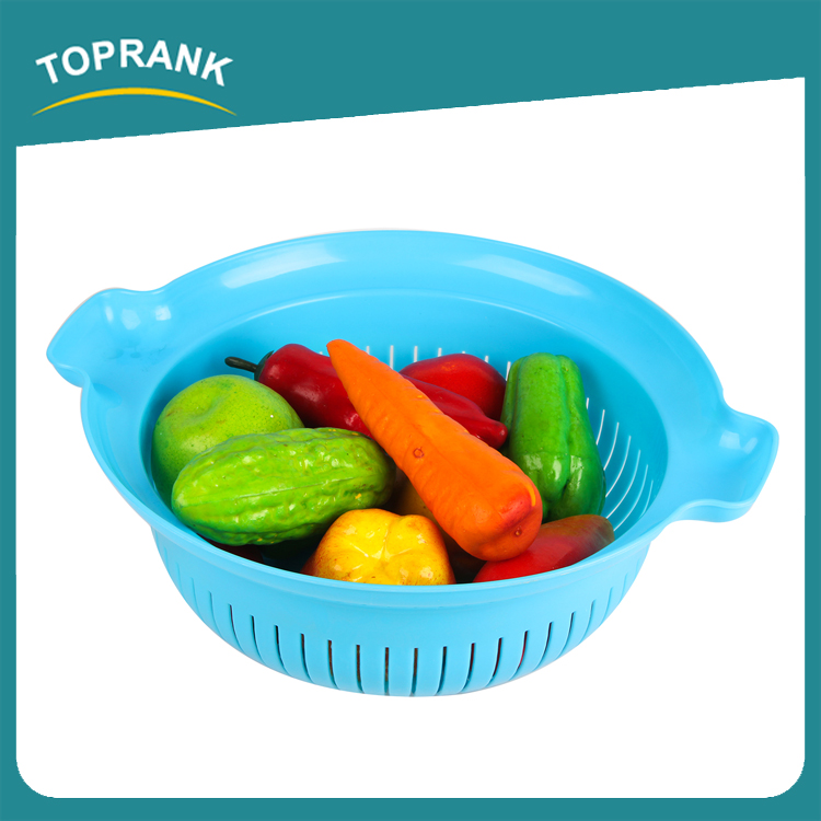 Kitchen Accessories Wash Rice Fruit Vegetable Sieve Storage Basket Dropping Water Basket Kitchen Plastic Fruit Drain Basket
