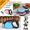 Lovely dog leash metal clips flexi retractable dog leash