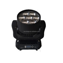 New LED Stage Lights ZOOM 7x40W RGBW 4in1 LED Beam Wash Moving Head Light