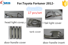 Toyota Fortuner 2012/2013 full chromed kits 17 pcs/set toyota fortuner suv accessory cars exterior accessories