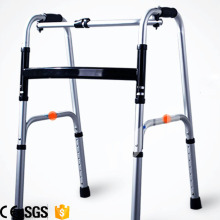 One Button Folding Reciprocal Titanium Walker