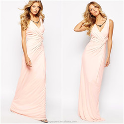 Wholesale wrap front slim fit women white party chiffon maxi dresses