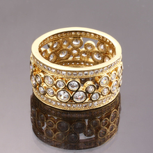 wedding gift items luxury gold jewelry wedding <strong>ring</strong> for girl women