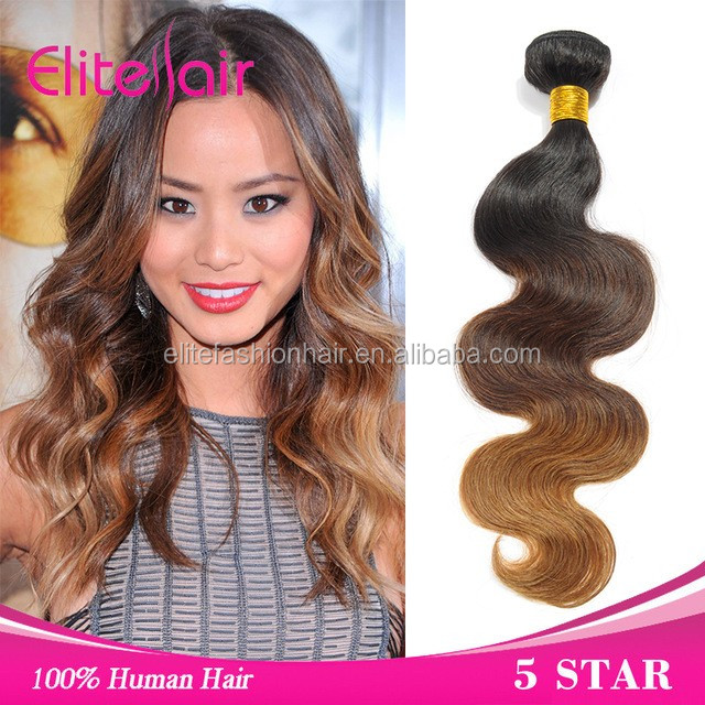 Aliexpress hotselling products brazilian ombre human hair weave fancy color for lady