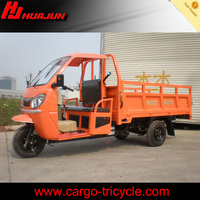 gasoline three wheel motorcycle/motorized trike/cargo tricycle with cabin