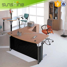 Hot Table Frame Models Melamine laminated Office Desk Steel Office Furniture From China