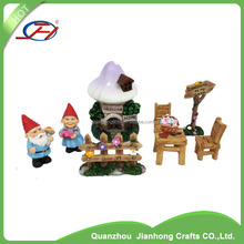wholesale accessories solar light polyresin miniature house resin fairy