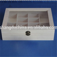 natural wooden essential oil box with 12 comparents wholesale