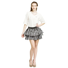 Hot girls short stripe skirt with quality assurance girls design