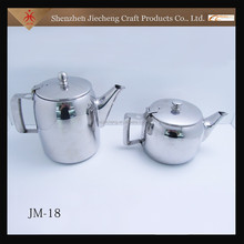 Factory direct sale fancy OEM cheap stainless steel tea sets with teapot