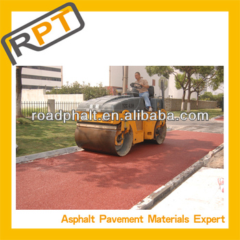 Mixture colored Asphalt for road construction
