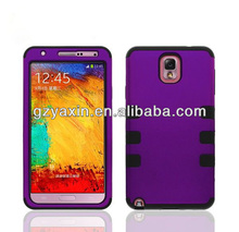 new arrival 3-in-1 case funny silicone phone case for galaxy note 3