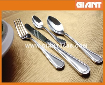 New Design silver plated Stainless Steel Cutlery Set in window color box packing