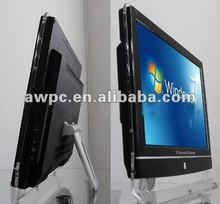 "New arrival hot all in one LCD PCTV 22"" with HD 2gb & 250gb only USD500/pcs & touch screen available with warranty"