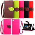 Case for Huawei P8 Lite , Hot Selling High Quality PU Leather Flip Cover Wallet Case for Huawei P8 Lite with Hand Strap