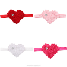 Sweet Baby Girl LOVE Design Cotton <strong>Headband</strong> Valentine's Day Kids Girls Flower Stretch Hairband