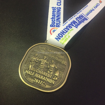 High quality Custom designed metal bronze running events medals