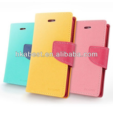 Leather phone case series Contrast Color For Samsung Galaxy Note 3 Fancy Diary Flip Wallet Case