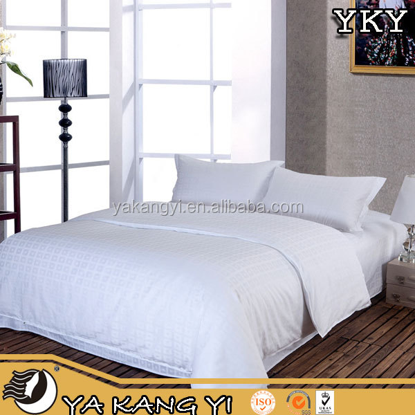 Foshan 20% Polyester 80% Cotton White Plain Woven Softtextile Bed Sheet Set For Hotel / Hospital