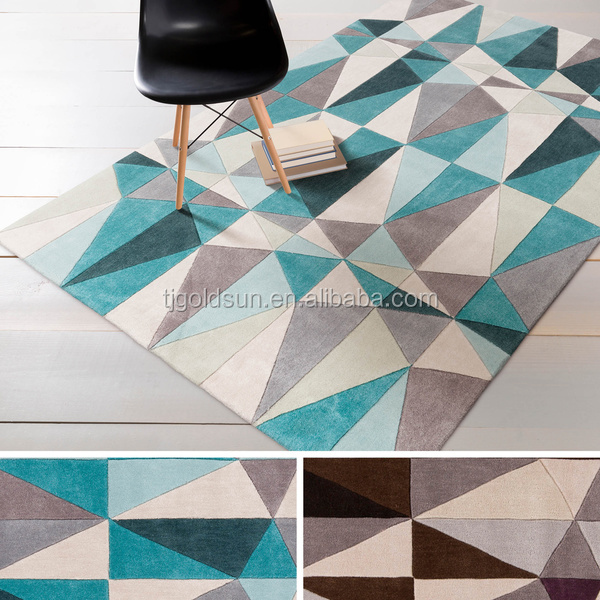 handtufted geometric acrylic carpet and area rug
