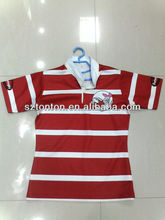 Striped Y-collar Sublimation English children Rugby Jersey
