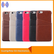 Leather Case for iPhone 6 6 plus, real leather case with back card slot Top quality Leather Case