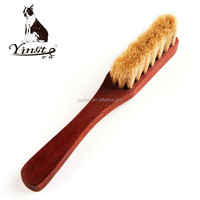 Yangzhou Yingte Bristle Horse hair long wooden hand shoe brush/cleaning sofa curtain brush