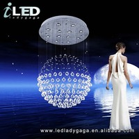 D700*900mm Modern LED 220v 110V Most popular dinning roon elegant LED crystal round glass ball chandelier