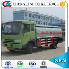 China low price faw 4X2 small oil tank truck for sale fuel tansportation truck