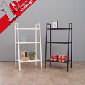 Metal Household Storage Shelf 3 Tiers Display Shelf Rack Steel Bedroom Bookshelf Design