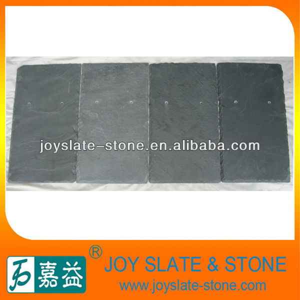 Drilled hole slate roof tile
