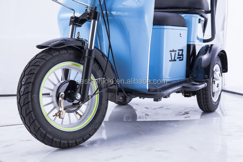 500W brulshless motor adult 3 wheel electric SECOOTER/China Best price double seat tricycle electric tricycle