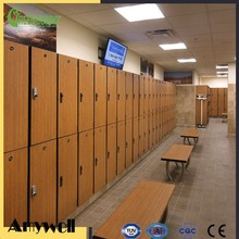 Amywell 10 years warranty 2 tiers phenolic resin compact HPL cheap gym locker