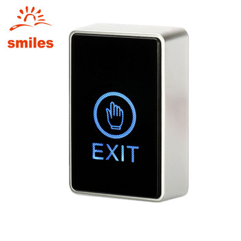 Long Shape 12V Touch Panel Door Exit Release Button For Access Control