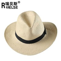 5bu promotional hande made natural paper straw unisex panama hat